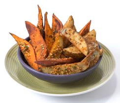 Oven Barbecued Potato Wedges