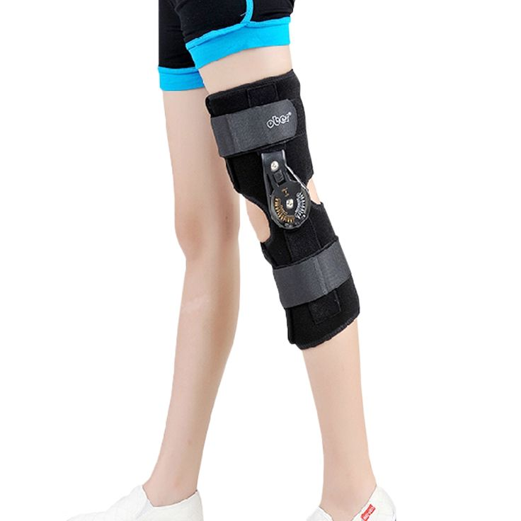 Orthopedic Hinged ROM Adjustable Sports Knee Brace Support Splint Stabilizer Wrap Sprain Post-Op Hemiplegia Flexion/Extension