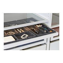"""KOMPLEMENT Pull-out tray with insert, white, gray - white/gray - 39 3/8x22 7/8 """" - IKEA"""