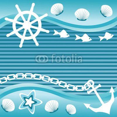 Wektor: Marine background