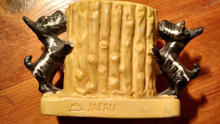 VINTAGE BLACK SCOTTISH SCOTTY SCOTT TERRIER PLANTER MADE IN JAPAN