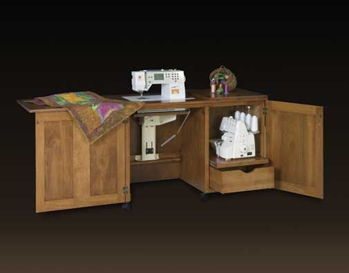 Sewing/Serger Duo Cabinet