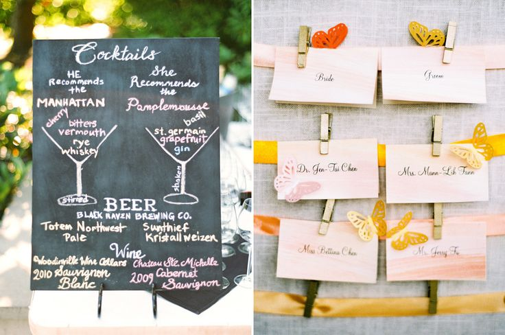 13 Best Weddings of 2013Cocktails Menu, Drinks Boards, Drinks Menu, Escort Cards, Chalkboards Cocktails, Cute Ideas, Chalkboards Drinks, Wedding Blog, Signature Cocktails