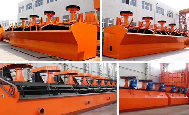 Flotation machine(Henan Fote Heavy Machinery Co., Ltd.) Processing ability: 0.2–16 m³/min 5-20 m³/min Impeller rotation speed: 191–400 r/min Dimensions: 700×700×750–2200×2900×1400 mm Applied material: non-ferrous metals, ferrous metals, precious metals, non-metallic mineral, etc