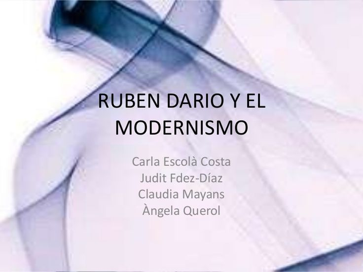 trata sobre la vida de Ruben Dario, de sus poemas y también muestra una pequeña parte de lo que es el modernismo