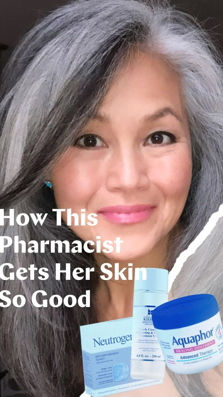 Grey Hair Journey, Aging Quotes, Hello Gorgeous, Beautiful, Facial Cleansers, Glowy Skin, Skin Routine, Beef Steak, Makeup Tricks