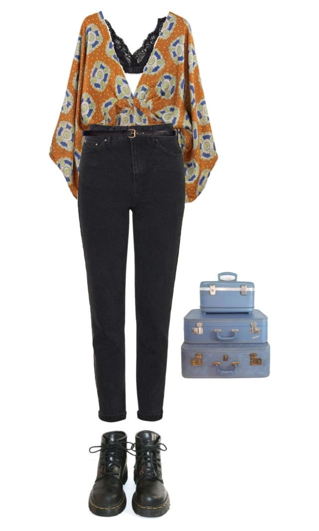 """easy"" by julietteisinthe80s on Polyvore featuring Talula, Topshop, H&M, Dr. Martens and Retrò"