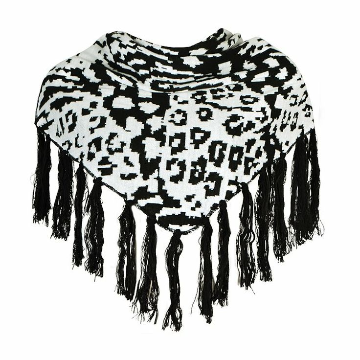 SCARF IN PRINT WITH TASSELS
