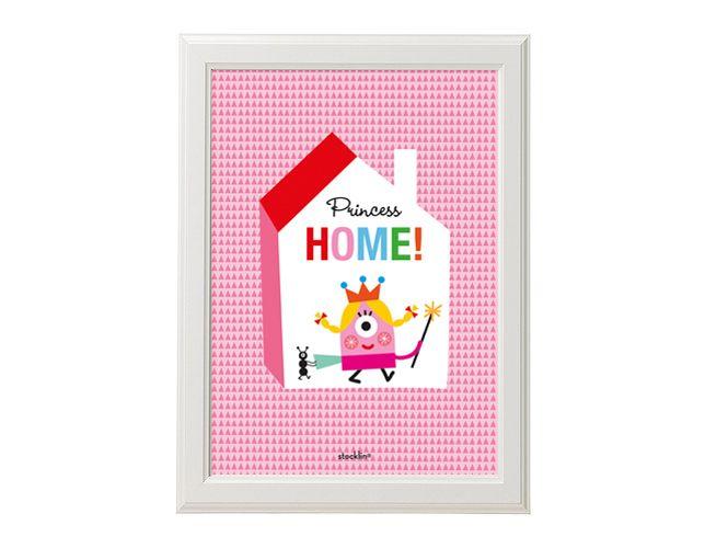 "Ilustración / Illustration ""Princess Home"". Printable http://es.dawanda.com/shop/linavila"