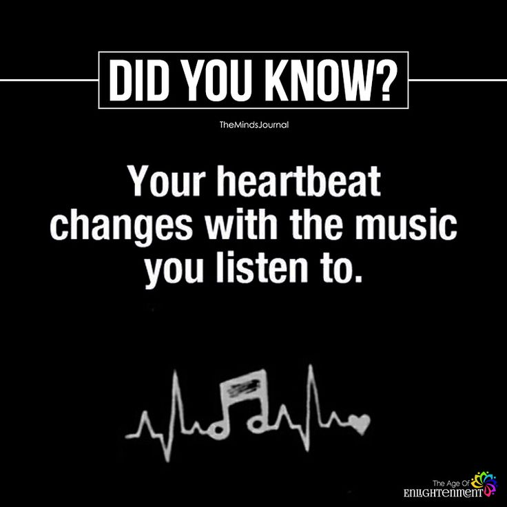 Your Heartbeat Changes With The Music