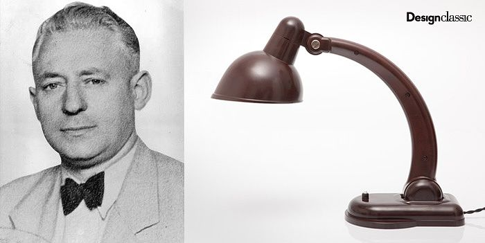 Christian Dell 1929-30 bakelit lamp