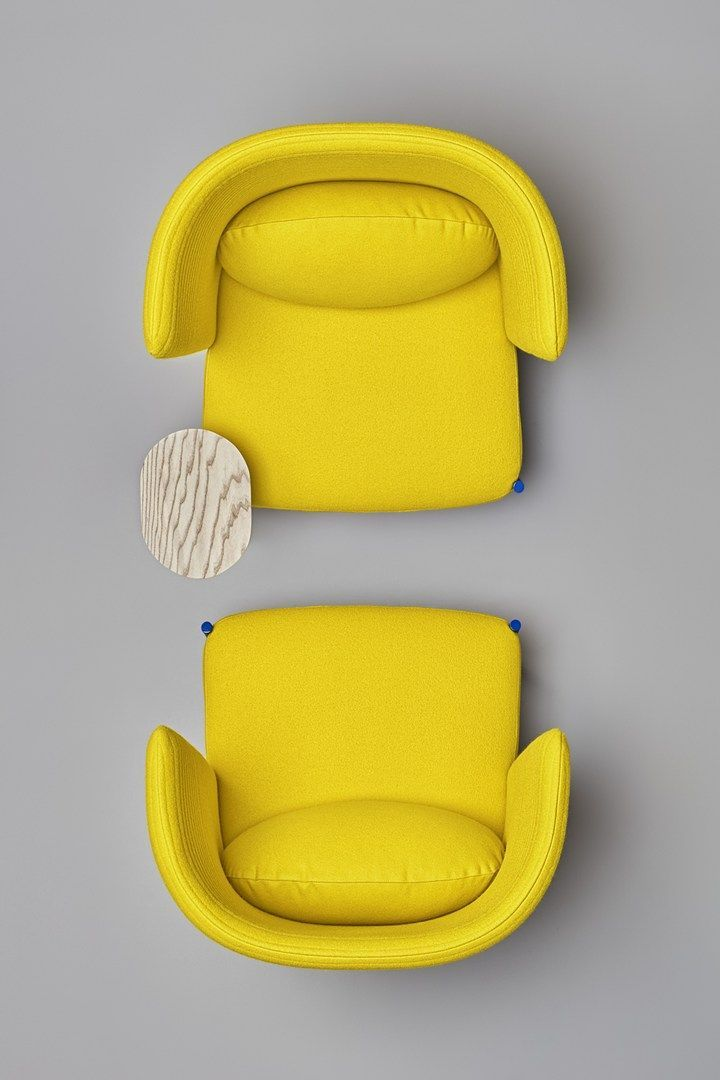 102 Reference Of Chair Top View Black In 2020 Yellow Armchair Yellow Office Yellow Furniture