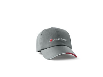Audi Sport baseball cap dark grey.    Available from: http://www.m25audi.co.uk