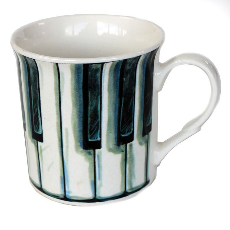 Bone China Mug: Piano Keys. £8.99