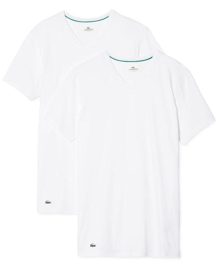 Lacoste Men's V-Neck T-Shirt 2-Pack