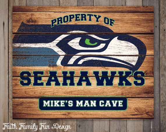 nfl seattle seahawks team sign u0026 itu0027s your name