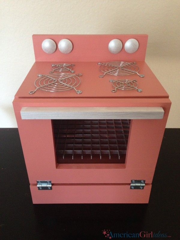 So here it is, a fabulous American Girl Stove. This is just the start of a wonderful kitchen set. I can't wait to finish all of the kitchen.
