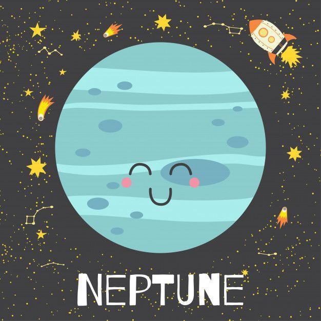Neptuno Vector Premium Premium Vector Freepik Vector Estrella Educacion Caracter Planeta Dibujo Imagenes De Los Planetas Proyectos De Sistemas Solares