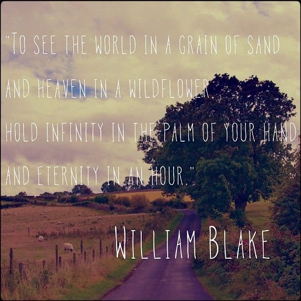 """William Blake Love Quotes: """"To See The World In A Grain Of Sand And Heaven In A"""