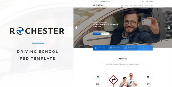 Rochester - Driving School PSD Template - Business Corporate Download here : https://themeforest.net/item/rochester-driving-school-psd-template/19667011?s_rank=265&ref=Al-fatih