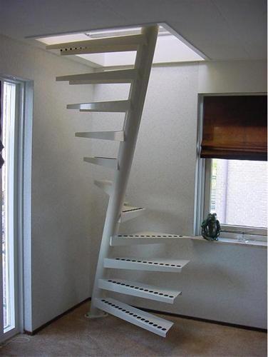 Populair Afbeeldingsresultaat voor vaste trap naar zolder kleine ruimte &IX02