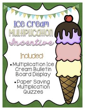 FREEBIE! I love free stuff!   Try this multiplication incentive bulletin board…
