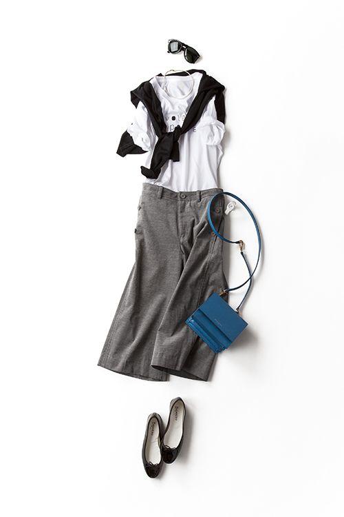 ボトムだけ秋シフトその3、 コーデュロイのレトロさを加えてみる 2015-08-10 | cardigan price :31,500 brand : John Smedley | trousers price :24,840 brand : LOUSTIC | bag price :118,800 brand : ANTEPRIMA