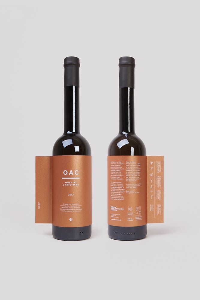Label design for 'Only at Christmas' liqueur by Believe in