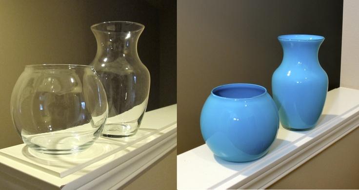 Before & after cheap florist vase make over!: Home Diy Crafty, Paintings Vase, Painted Vases, Florists Vase, Diy Fave, Small Diy Crafts, Diy 33