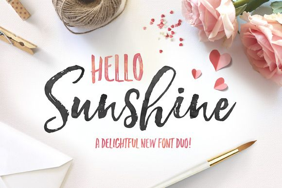 Hello Sunshine Font Duo by Nicky Laatz on @creativemarket
