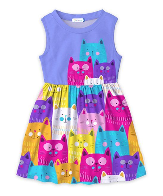 22f3c7067 Take a look at this Blue   Fuchsia Cat A-Line Dress - Toddler ...