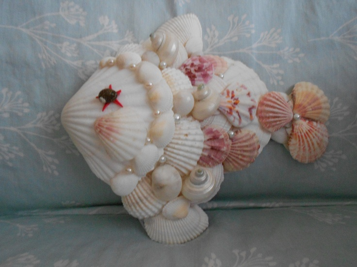 Fish made from shell seashell craft idea pinterest for What are shells made of