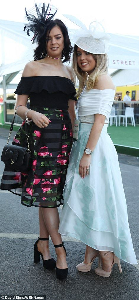 Glamorous revellers were preened to perfection for the third day of the Aintree, with one donning a scarlet floral dress while a duo rocked princess-inspired taffeta creations