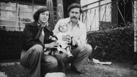 Pablo Escobar with His wife Maria Victoria Henao Escobar born 1976 died 1993