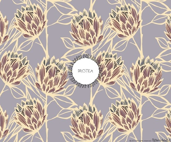 """Protea,pattern design by """"Pattern Addict"""""""