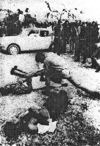 Typical of the open-air, human abattoirs operated by the Awami League-led rebels in East Pakistan in 1971 is this photograph of multiple-executions done by a Mukti-Bahini killer squad in Dacca Race Course. The pro-Pakistan Bengali and non-Bengali victims were tortured before being slain