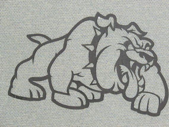 Bulldog découpe Silhouette Wall Decor bois Art par Motorheadart