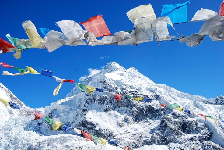 Everest #JetsetterCurator: Mt Everest, Everest Based Camps, Bucketlist, Buckets Lists, Dinning Buckets, Prayer Flags, Favorite Destinations, Everest På, Mount Everest