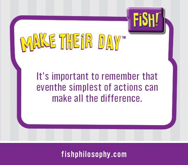The FISH! Philosophy: Make Their Day www.fishphilosophy.com