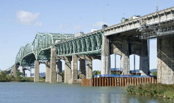 Canada - Champlain Bridge in Saint Lawrence River, Montreal