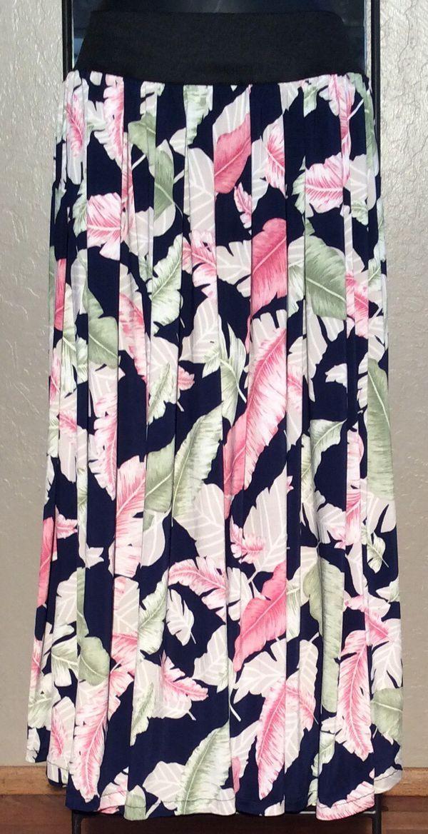 Falda tableada de plumas de colores TALLAS:S,M,L,XL,XXL, XXXL