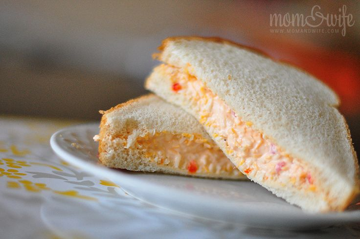 Fresh bread and pimento cheese...Even better when the tomatoes are in season!