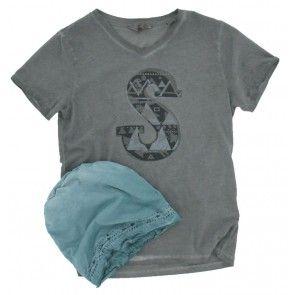 Scotch and Soda - T-shirt S grijs