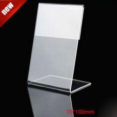 70*100 ММ 20 шт. акриловые стол таблица планшетные стенды знак знамени имя карты показаны стенд акриловые прайс-лист label держатель меню