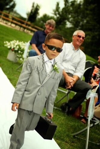 Ring Bearer Security with sealed case! | Let us help you plan all the details for your perfect day! www.PerfectDayWeddingPlanners.com #ChicagoWeddingPlanners