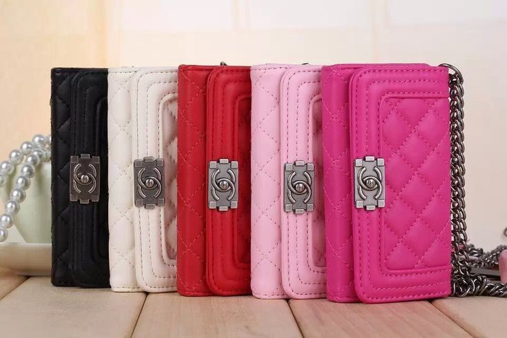 Chanel Boy Handbag Chain Leather Case for Iphone 6 4.7 ...
