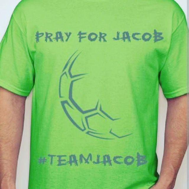 Seven year old Jacob Mills was at his aunts house when he was involved in a gun accident and was shot in the head with a 22 rifle. Jacob is currently in Batson Children's Hospital in Jackson, Ms fighting for his life. We are selling shirts to raise money to help his mother and father with any expenses that may come up while they are staying at the hospital with their son! If interested, get ahold of me!