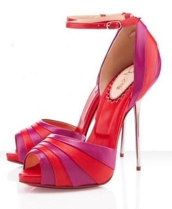 Christian Louboutin sandals (I love the color and just look at the heel on these).