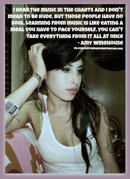Quote about music - #amywinehouse