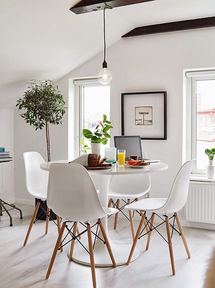 Las 25 mejores ideas sobre mesas de comedor redondas en for Mesas ordenador para espacios pequenos